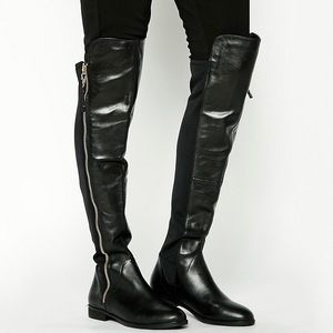 Aldo Leather Uliawen Over the Knee Riding Boots
